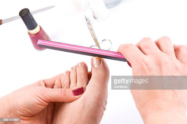 pedicure - nail scissors stock pictures, royalty-free photos & images