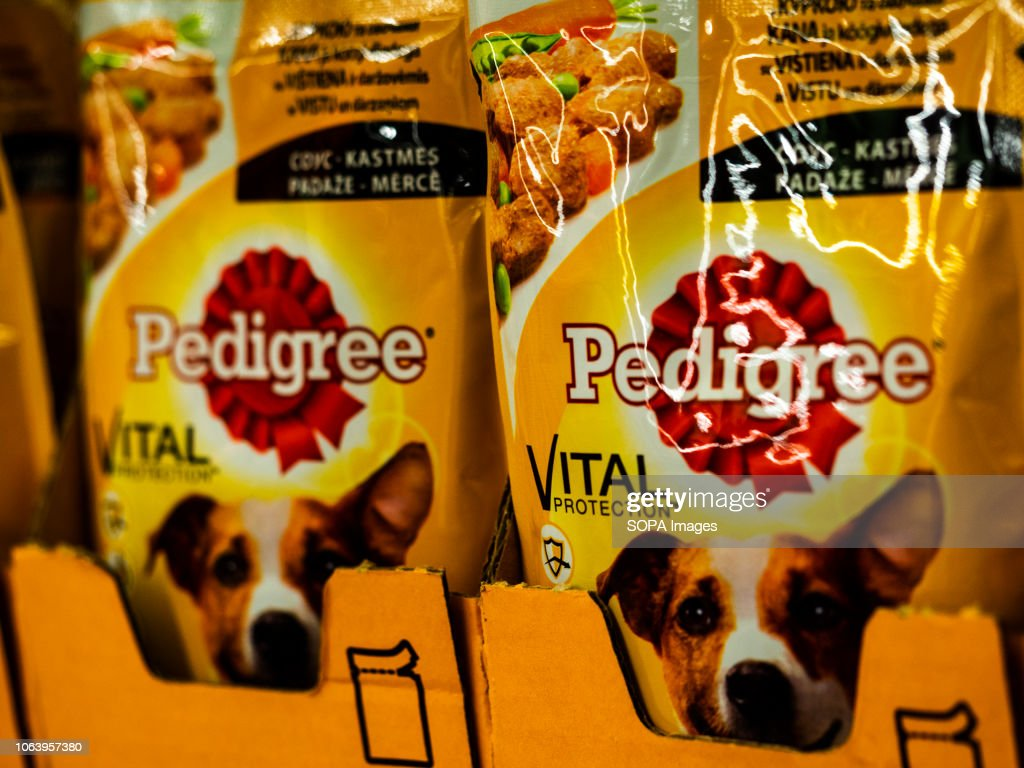 Pedigree Dog Food Pouches Are Seen At The Store News Photo