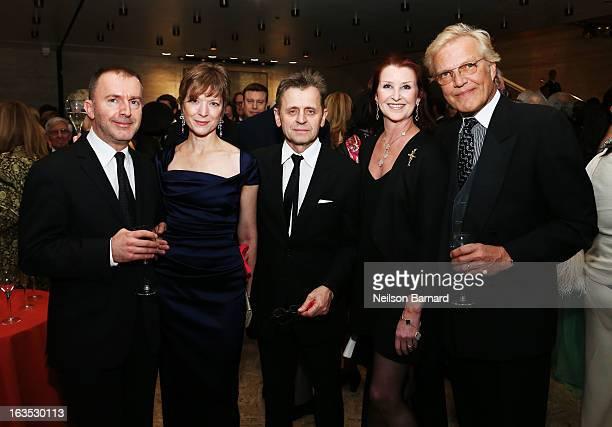 Pedja Muzijevic, Lisa Rinehart, Ballet dancer Mikhail Baryshnikov, Darci Kistler and Director of the New York City Ballet Peter Martins attend the...