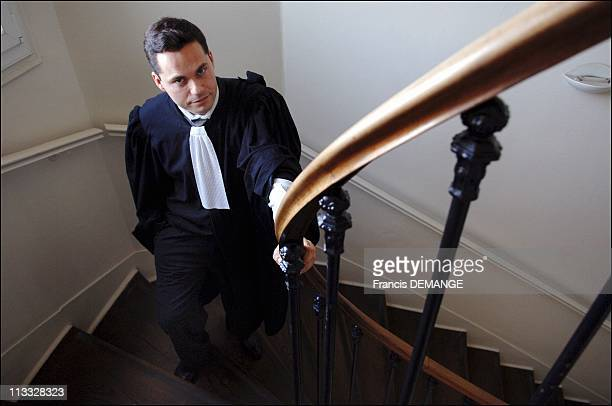 Pedophilia And Child Abuse Trial On March 23Th 2005 In Angers France Pascal Rouiller Defence Attorney