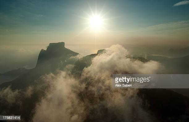pedra da gavea, or gavea rock, the highest point in rio de janeiro. - alex saberi bildbanksfoton och bilder