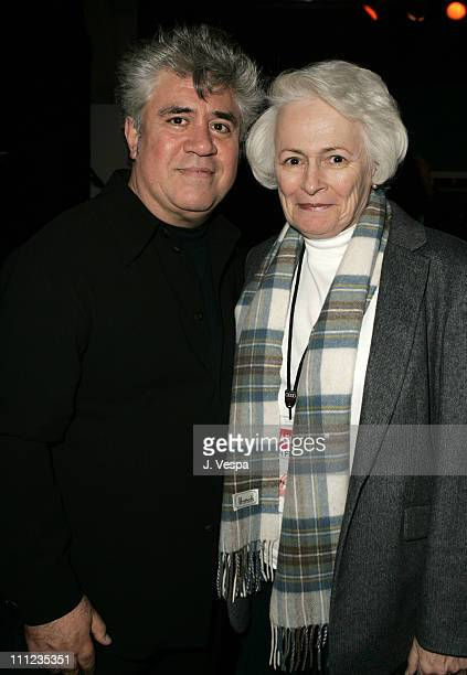 Pedro Almodovar and Jean Picker Firstenberg during 2004 AFI Film Festival Bad Education Premiere Red Carpet at The Arclight in Hollywood California...