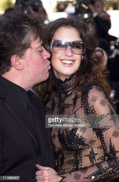 Pedro Almodovar and Paz Vega during Cannes 2002 Palmares Awards Ceremony Arrivals at Palais des Festivals in Cannes France