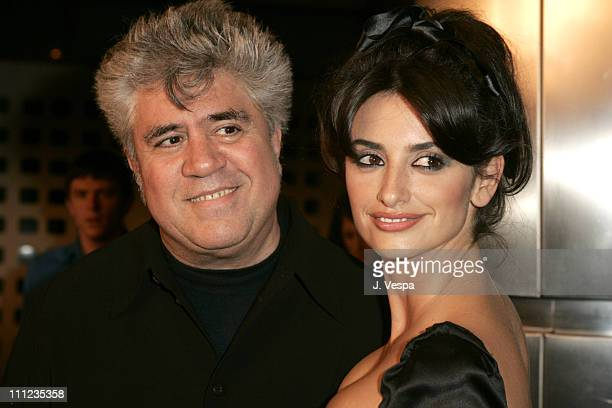 """Pedro Almodovar and Penelope Cruz during 2004 AFI Film Festival - """"Bad Education"""" Premiere - Red Carpet at The Arclight in Hollywood, California,..."""