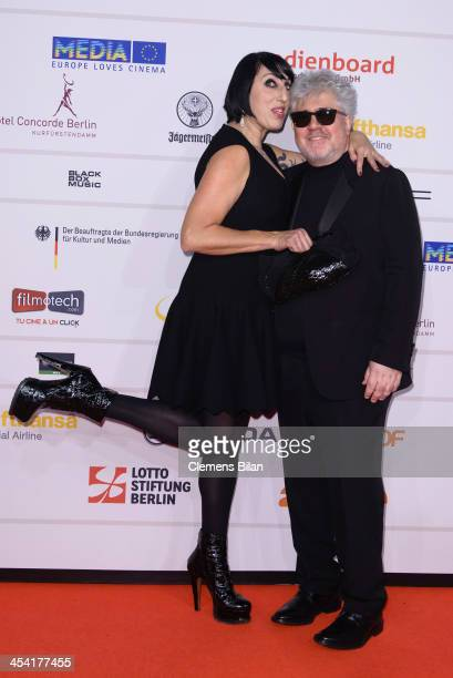 Pedro Almodovar and Rossi de Palma attend the European Film Awards 2013 on December 7 2013 in Berlin Germany
