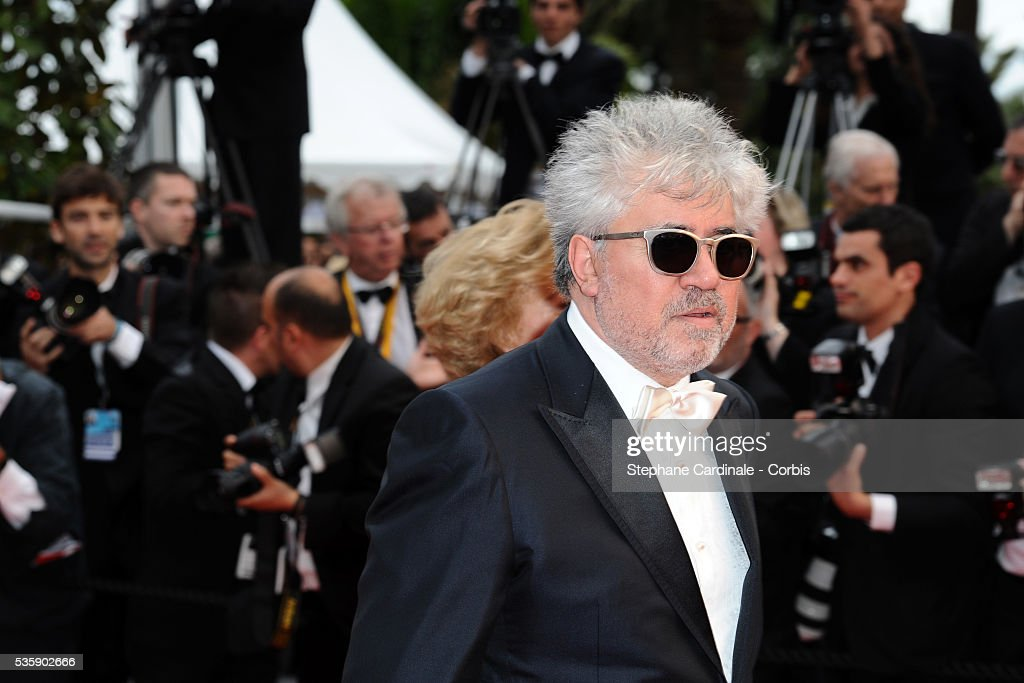 Pedro Almodovar at the Premiere for 'You will meet a tall dark stranger' during the 63rd Cannes International Film Festival.