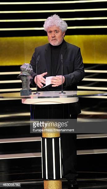 Pedro Almodovar attends Goya Cinema Awards 2015 at Centro de Congresos Principe Felipe on February 7 2015 in Madrid Spain