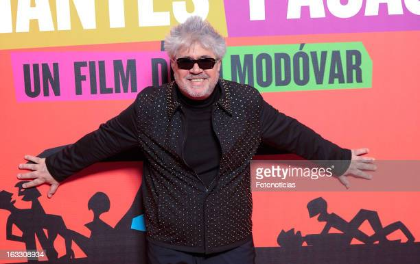 Pedro Almodovar attends 'Los Amantes Pasajeros' premiere party at the Casino de Madrid on March 7 2013 in Madrid Spain