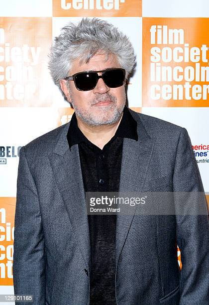 Pedro Almodovar attends the 49th annual New York Film Festival presentation of The Skin I Live In at Alice Tully Hall Lincoln Center on October 12...