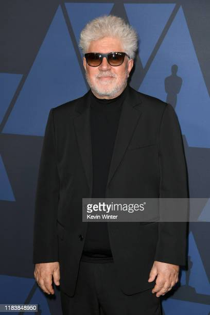 Pedro Almodovar attends the Academy Of Motion Picture Arts And Sciences' 11th Annual Governors Awards at The Ray Dolby Ballroom at Hollywood &...