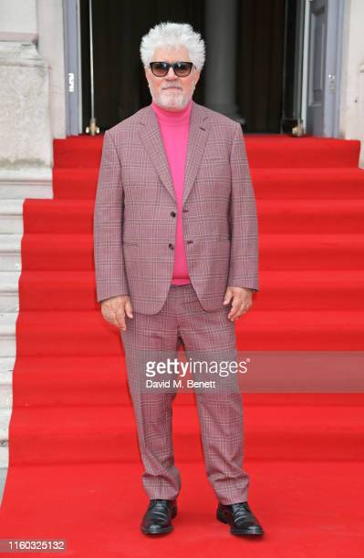 Pedro Almodovar attends the opening night of Film4 Summer Screen at Somerset House featuring the UK Premiere of Pain And Glory on August 8 2019 in...