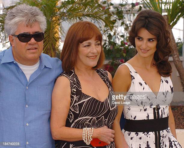 """Pedro Almodovar, Carmen Maura and Penelope Cruz during 2006 Cannes Film Festival - """"Volver"""" Photo Call at Palais du Festival in Cannes, France."""