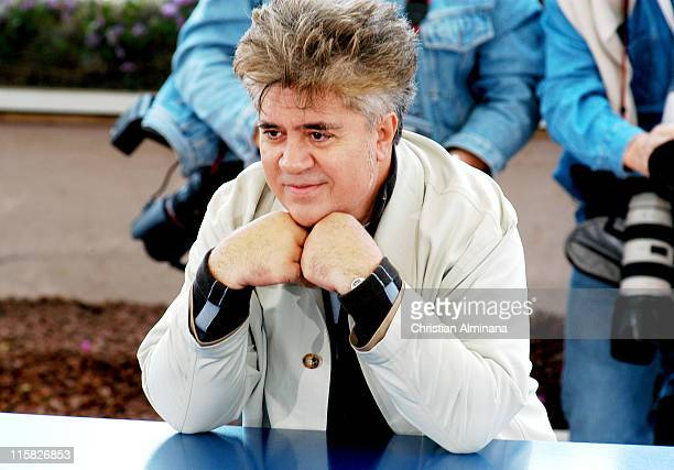 Pedro Almodovar during 2004 Cannes Film Festival 'Bad Education' Photocall at Palais Du Festival in Cannes France