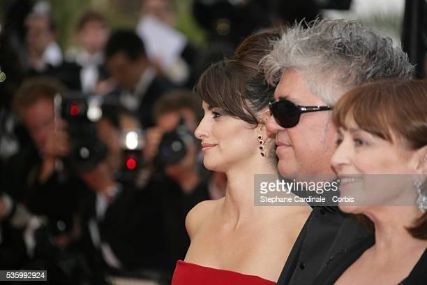 Pedro Almodovar Penelope Cruz and Carmen Maura at the premiere of 'Transylvania' during the 59th Cannes Film Festival