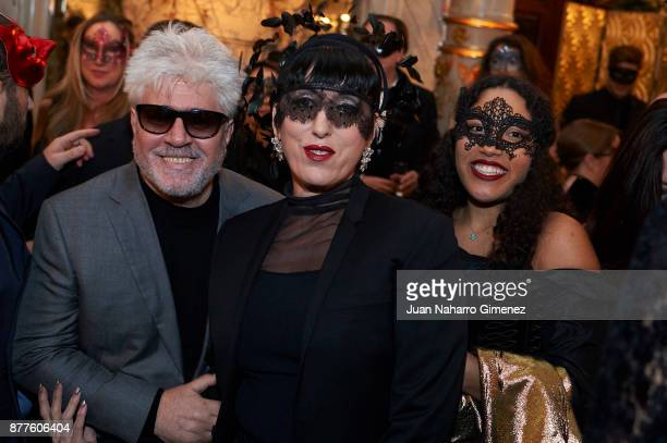 Pedro Almodovar Rossy de Palma and Luna Mary attend to the Dior Ball party at Santona Palace on November 22 2017 in Madrid Spain