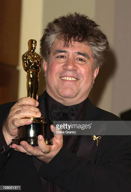 "Pedro Almodovar, winner of Best Original Screenplay for ""Talk To Her"""