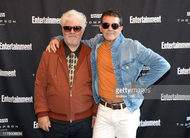 Pedro Almodóvar and Antonio Banderas attend Entertainment Weekly's Must List Party at the Toronto International Film Festival 2019 at the Thompson...