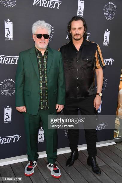 """Pedro Almodóvar and Asier Etxeandia attend the photocall for """"The Journey By The Land"""" during the 72nd annual Cannes Film Festival on May 16, 2019 in..."""