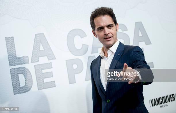 Pedro Alonso attends 'La Casa de Papel' Madrid Premiere on April 24 2017 in Madrid Spain
