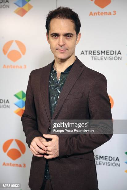 Pedro Alonso attends the presentation of the tv serie 'La Casa de papel' on October 4 2017 in Madrid Spain