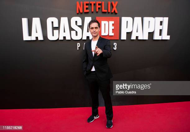 Pedro Alonso attends the red carpet of 'La Casa De Papel' 3rd Season by Netflix on July 11 2019 in Madrid Spain