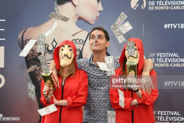 """Pedro Alonso of the serie """"La Casa de Papel"""" attends a photocall during the 58th Monte Carlo TV Festival on June 19, 2018 in Monte-Carlo, Monaco."""