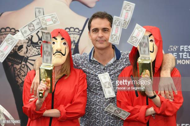 Pedro Alonso of the serie La Casa de Papel attends a photocall during the 58th Monte Carlo TV Festival on June 19 2018 in MonteCarlo Monaco