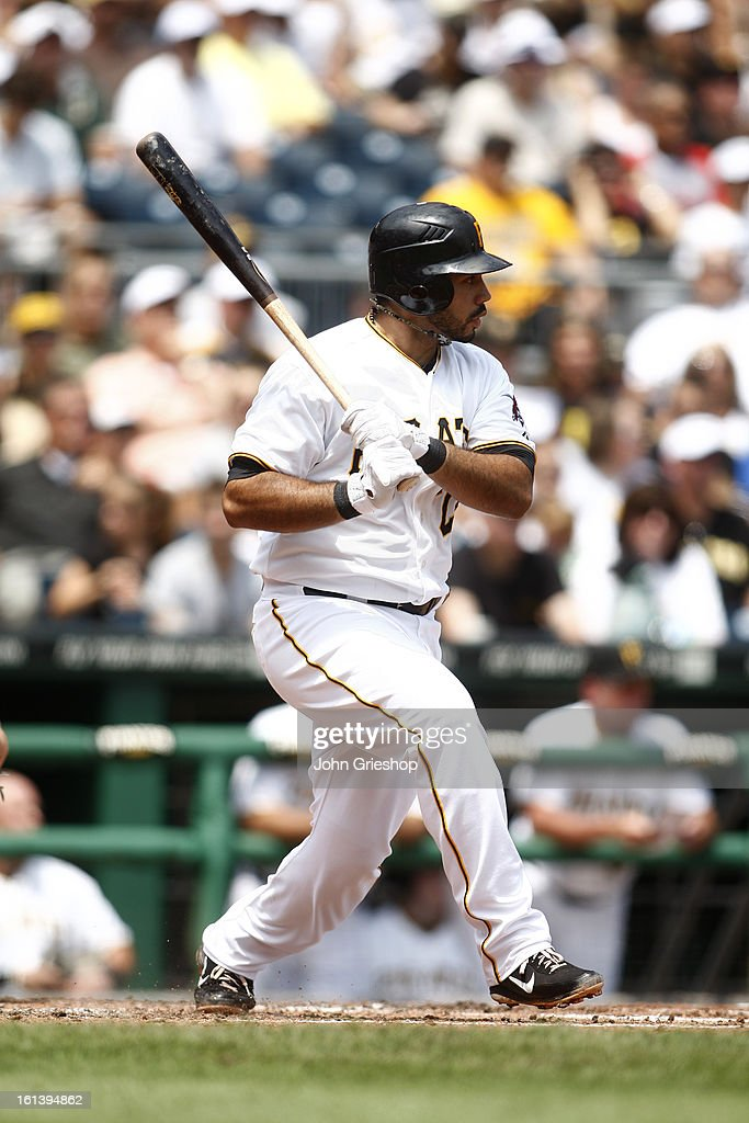 Pedro Alvarez #24 of the Pittsburgh Pirates bats against the Miami Marlins on Sunday, July 22, 2012 at PNC Park in Pittsburgh, Pennsylvania. The Pirates defeated the Marlins 3-0.