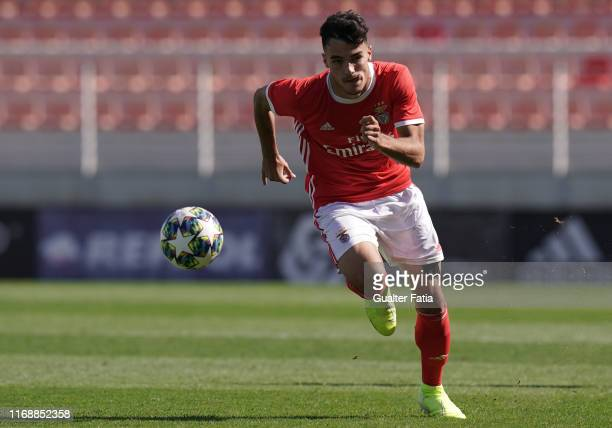 Pedro Alvaro of SL Benfica in action during the UEFA Youth League Group G match between SL Benfica and RB Leipzig at Caixa Futebol Campus on...