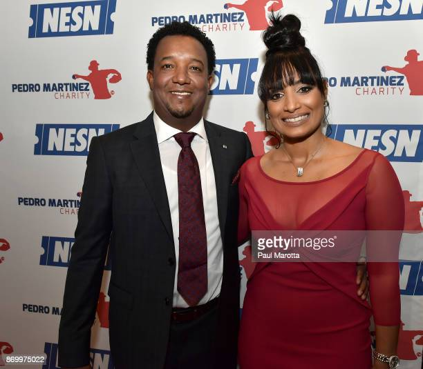 Pedro and Carolina Martinez attend the 2nd Annual Pedro Martinez Charity Gala at The Colonnade Boston Hotel on November 3 2017 in Boston Massachusetts