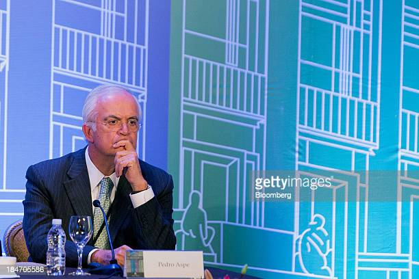 Pedro Aspe cochariman of Evercore Partners Inc listens during the Banco de Mexico 20th Anniversary Of Independence Conference in Mexico City Mexico...