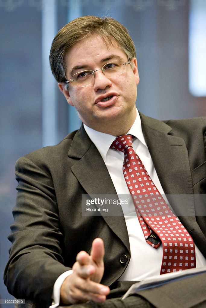 Pedro Bastos, chief executive officer of HSBC Investments asset management Brazil, speaks during an interview in New York, U.S., on Monday, June 21, 2010. More foreign institutional investors, such as pension funds and sovereign funds, are pouring money into Brazil's local government bonds, as confidence in Brazil's economic stability return to levels seen before the world financial crisis in 2008 and combines with the country's investment grade. Photographer: Daniel Acker/Bloomberg via Getty Images