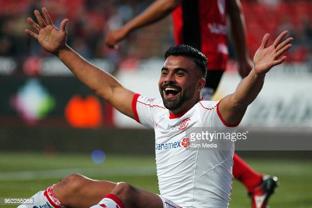 Pedro Canelo of Toluca reacts during the 17th round match between Tijuana and Toluca as part of the Torneo Clausura 2018 Liga MX at Caliente Stadium...