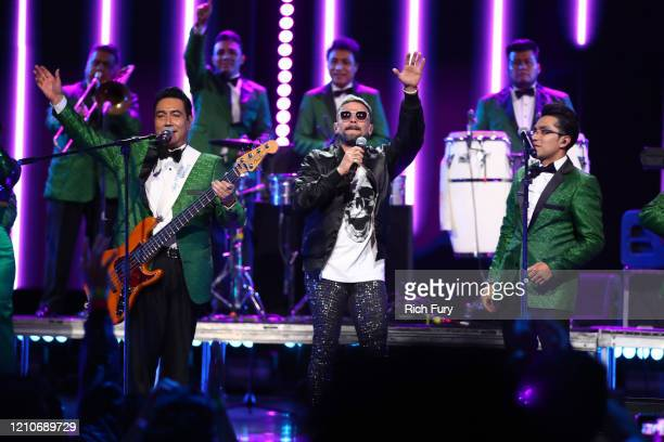 Pedro Capó performs onstage during the 2020 Spotify Awards at the Auditorio Nacional on March 05, 2020 in Mexico City, Mexico.