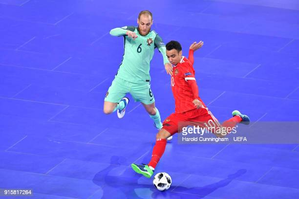 25 Russia V Portugal Uefa Futsal Euro 2018 Semi Final Photos And Premium High Res Pictures Getty Images