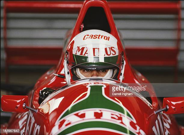 Pedro Chaves of Portugal sits aboard the Mateus Cobra Motorsports Reynard 89D Cosworth during the FIA International F3000 Championship race on 20th...