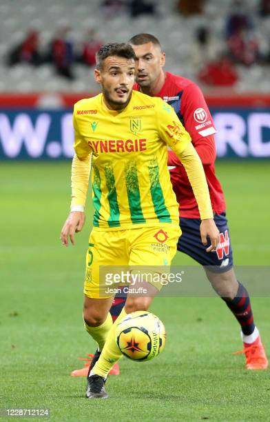 Pedro Chirivella of FC Nantes during the Ligue 1 match between Lille OSC and FC Nantes at Stade Pierre Mauroy on September 25, 2020 in Villeneuve...