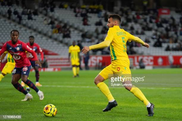 Pedro Chirivella of FC Nantes runs with the ball during the Ligue 1 match between Lille OSC and FC Nantes at Stade Pierre Mauroy on September 25,...