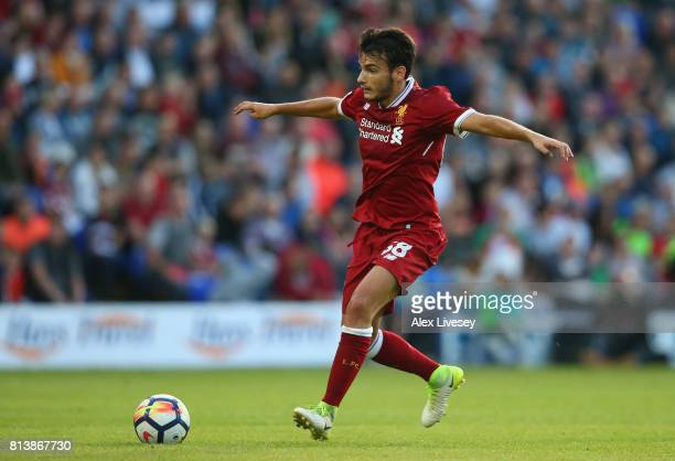 Pedro Chirivella of Liverpool during a preseason friendly match between Tranmere Rovers and Liverpool at Prenton Park on July 12 2017 in Birkenhead...
