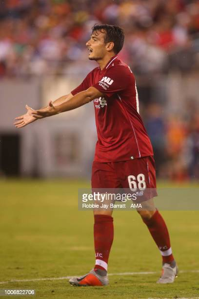 Pedro Chirivella of Liverpool during the International Champions Cup 2018 match between Manchester City and Liverpool at MetLife Stadium on July 25...