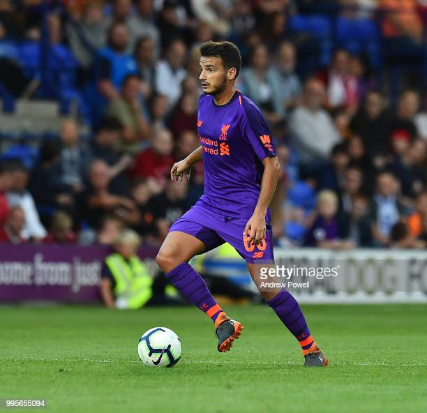 Pedro Chirivella of Liverpool during the preseason friendly match between Tranmere Rovers and Liverpool at Prenton Park on July 10 2018 in Birkenhead...
