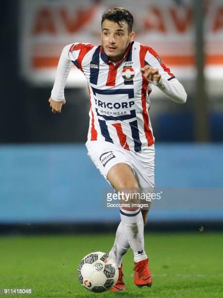 Pedro Chirivella of Willem II during the Dutch Eredivisie match between Willem II v AZ Alkmaar at the Koning Willem II Stadium on January 28 2018 in...