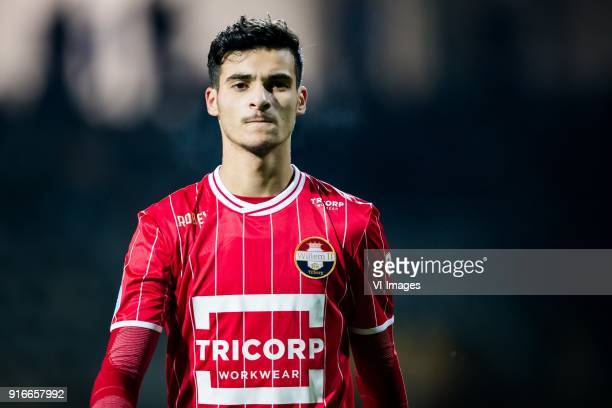 Pedro Chirivella of Willem II during the Dutch Eredivisie match between Heracles Almelo and Willem II Tilburg at Polman stadium on February 10 2018...
