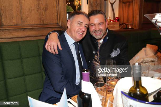 Pedro da Silva and his husband Dieter during the Christmas Charity Dinner hosted by Stefan_Mross AnnaCarina_Woitschack and Connections PR for the...