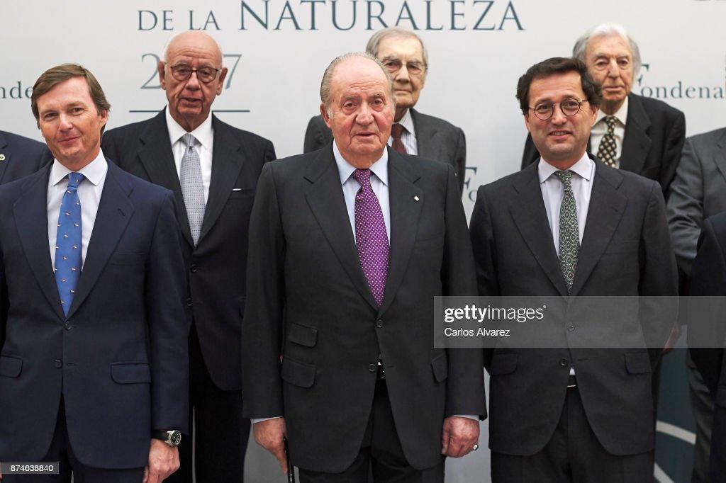 Pedro de Borbon-Dos Sicilias y Orleans, King Juan Carlos and Jaime Haddad Sanchez de Cueto attend the FONDENA Award 2017 at the CESIC on November 15, 2017 in Madrid, Spain.