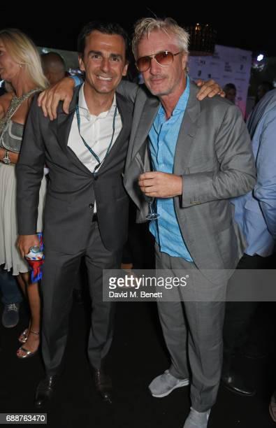 Pedro de la Rosa and Eddie Irvine attend the Amber Lounge Fashion Monaco 2017 at Le Meridien Beach Plaza Hotel on May 26 2017 in Monaco Monaco