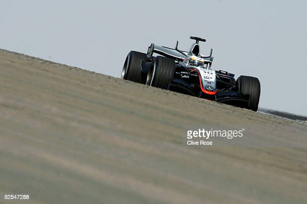 Pedro de la Rosa of Spain and Mclaren in action during the practice session for the Bahrain F1 Grand Prix at the Bahrain International Circuit on...