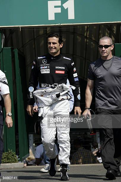 Pedro de la Rosa who replaces Juan Pablo Montoya as the driver for Team McLarenR is seen during the first practice day for the Formula 1 GP of France...