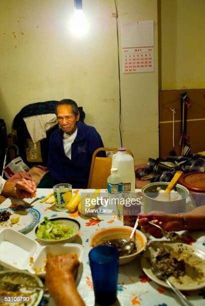 Pedro Dosono sits at his home May 4 2005 in San Francisco He fought the Japanese during WW II as a guerilla soldier He was among the Filipino...