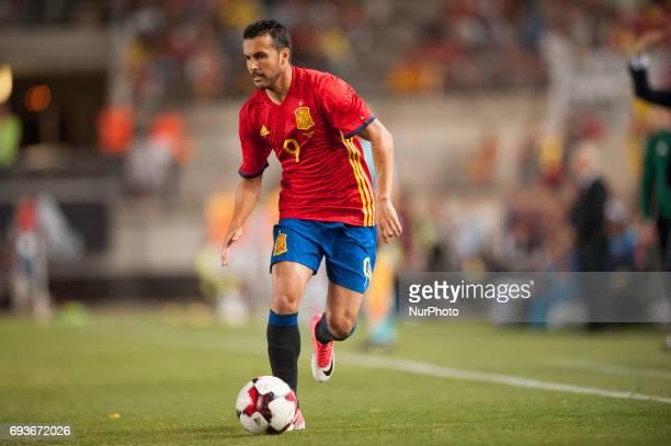 Pedro during a friendly match between national team of Spain vs Colombia in Nueva Condomina Stadium Murcia SpainWednesday June 7 2017